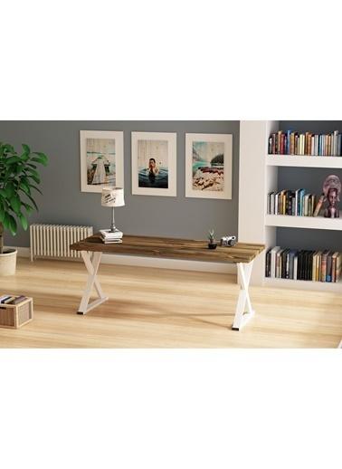 Woodesk Bahar Masif Ceviz Renk 200x80 Yemek Masası CPT7297-200 Kahve